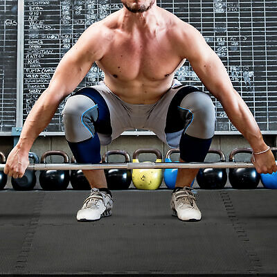 Soft Interlocking Floor Mats 72 Square Feet Waterproof Exercise Workout