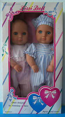 Vintage LISSI Doll Two Hearts Collection TWINS BOY & GIRL German DollS NRFB