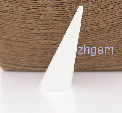 10pcs white plastic finger ring display stand jewelry holder