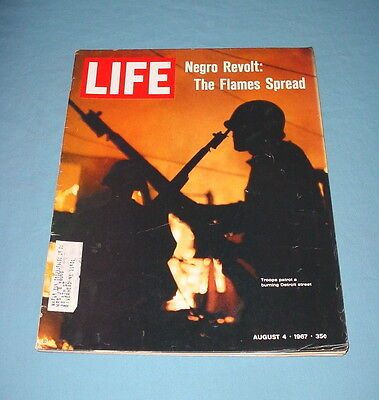 Life Magazine August 4 1967 Trouble In Detroit Carl Sandburg