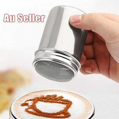 Stainless Steel Chocolate Cocoa Flour Shaker Icing Sugar Powder Coffee Duster AD