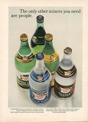"Canada Dry Mixers ""You bring the people."" ad 1965"