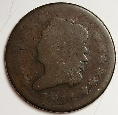 1814 Large Cent.  Full Date.  107390