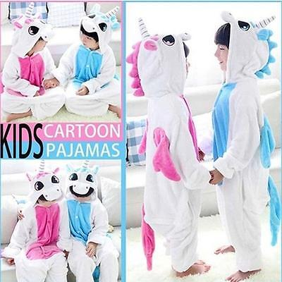 New Kids Adult Unisex Kigurumi Pajamas Animal Onesie Cosplay costume Unicorn