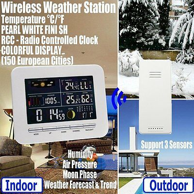 Wireless Color Display Weather Station Indoor Outdoor Thermometer Humidity