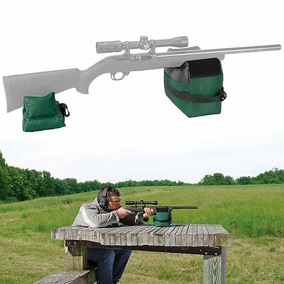 Handy Portable Shooting Hunting Front Rear Bench Holder Rifle Gun Rest Stand