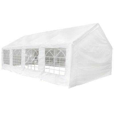 Outdoor Garden Party Tent Marquee Gazebo Canopy PE Waterproof White 8 x 4 m