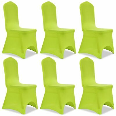 6 Removable Stretch Chairs Seat Cover Party Wedding Banquet Conference Green