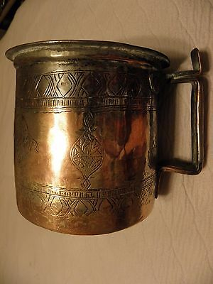 Antique/vintage giant  middle eastern copper tankard