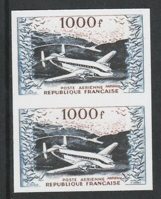 France 3215 - 1954 AIR 1000f IMPERF PAIR  - a Maryland FORGERY unused