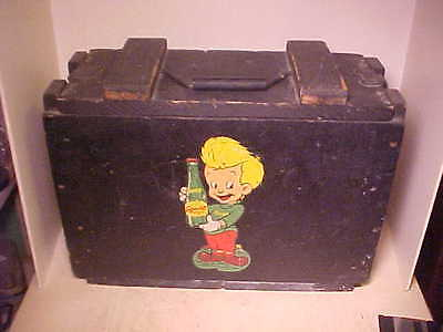 Rare 1945 Vintage Squirt Soda Workmans Wood Tool Box