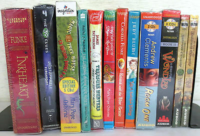 *New* Huge Lot CD Audio Books: DiTerlizzi Clements Osborne Korman Funke Blume