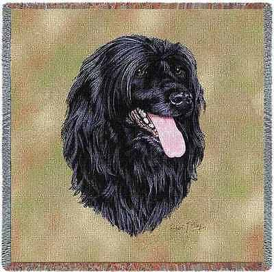 Lap Square Blanket - Portuguese Water Dog by Robert May 3379