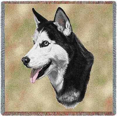 Lap Square Blanket - Siberian Husky by Robert May 1172
