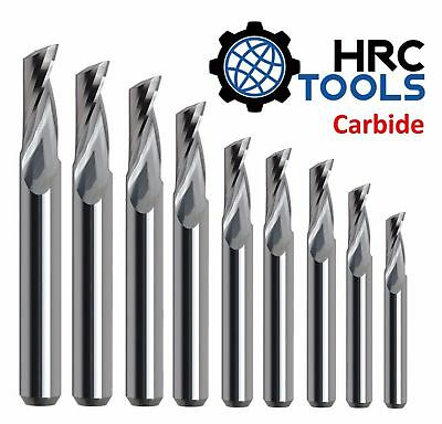 HRC 3mm - 12mm Solid Carbide Single (1) Flute End Mill 45 Deg 45HRC Endmill