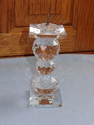 Swarovski Crystal Candlestick Candle Holder With Pin