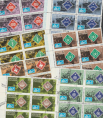 Grenada Grenadines 3242 - 1975 SCOUT JAMBOREE - WHOLESALE x 50 sets (350 stamps)