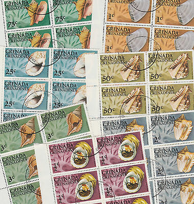 Grenada Grenadines 3244 - 1976  SHELLS  - WHOLESALE x 50 sets (350 stamps)