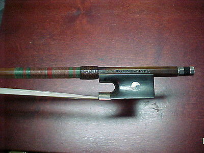 Old Violin Bow Stamped L.NEUNER BERLIN Silver mounted