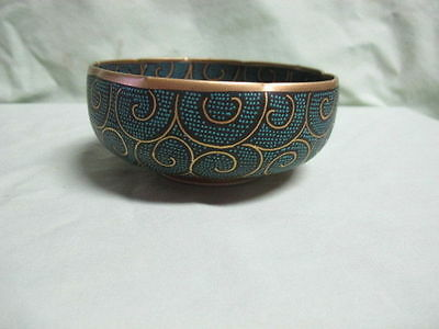 Vintage Oriental Japanese? Pottery Bowl with Design and Signed