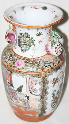 Chinese Xuantong Emperor (1909-1912) Marked Large Famille Rose Porcelain Vase