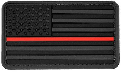 4x American Flag Dark PVC Morale Patch 3D Tactical Badge Hook #38