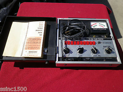 Sencore TC162 Mighty Mite VII Tube Tester Tested Working