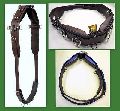 Multi Ring Multi Training Leather Pro-Surcingle with By Tough 1 BROWN Horse size