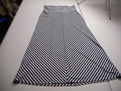 Old Navy Maternity Womens Medium Blue/White Striped Casual Knit Skirt