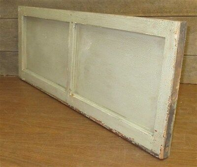 Old Wood Transom Window Stained Slag Glass Pane Vintage Salvage 33 x 13.25 mm