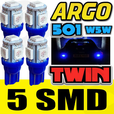 X4 T10 5 Smd Led Ice Super Large Sidelights Xenon Blue Ultra Bright