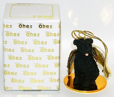 "Bouvier des Flandres Dog Figurine Ornament Angel 2"" Mini Figure Tiny Ones 1996"