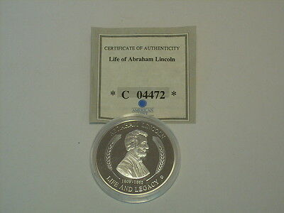 Life Of Abraham Lincoln 1809-1865-Commemorative Coin-American Mint,collectible