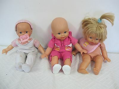Fisher Price Little Mommy Dolls (3) Cuddle Coo's Battery Operated Cloth
