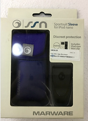 Marware iPod nano Sportsuit Sleeve With Clip & HeadPhone Holder (Blue)