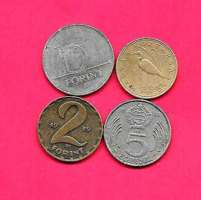 Hungary 4 Diff Different 1979-2000 Coin Lot Collection Set W Old
