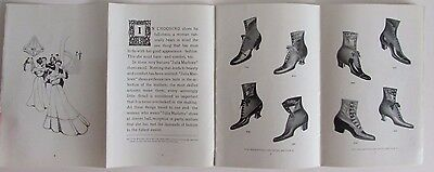 Antique Julia Marlow Shoes Catalog Style Book Illustrated Women's Fashion