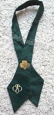 TIE, Cadette Girl Scout Official Uniform RARE 1963 w/2 PINS Halloween Costume