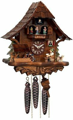 * BEER DRINKER*   Musical  Cuckoo Clock w/Moving Waterwheel & Dancers   MD462-14