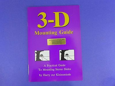 Practical Guide to Mounting Stereo 3D Slides Realist etc - booklet BH