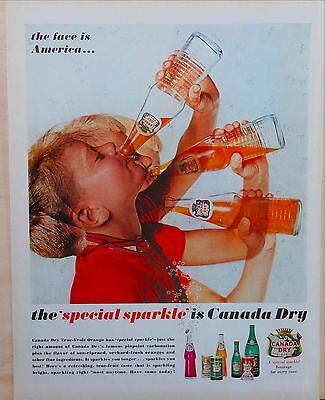 1962 magazine ad for Canada Dry True-Fruit Orange with that Special Sparkle