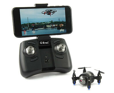G Teng Remote Controlled Micro Drone w/ WiFi First Person Camera - Black