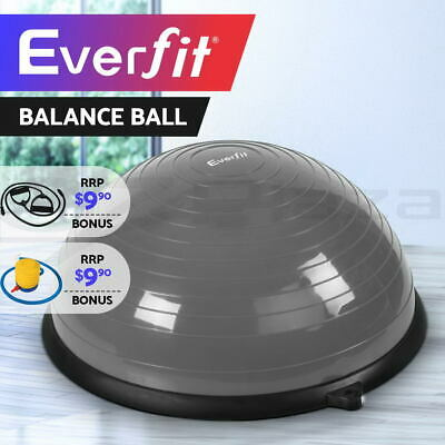 Everfit Balance Ball Trainer Yoga Gym Exercise Fitness Core Pilates Half Grey