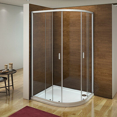 Aica 1000 x 800 Quadrant Shower Enclosure and Tray Corner Cubicle Right Hand R81