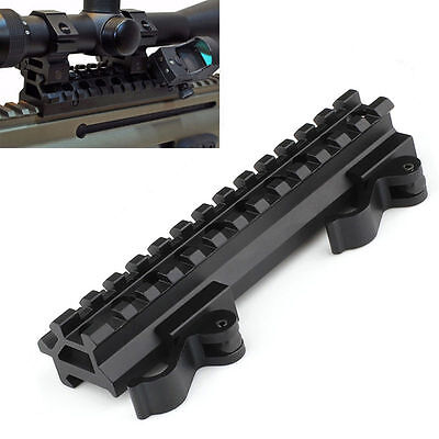"3/4"" Riser & Offset 45 degree Angle Picatinny Quick Release Scope Mount 13 Slots"