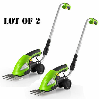 Lot of 2 SereneLife Cordless Handheld Grass Cutter Shears Electric Hedge Trimmer