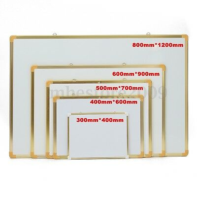 Small Large Dry Erase Magnetic Boards 2 Sides White Board  Aluminum Gold Frame