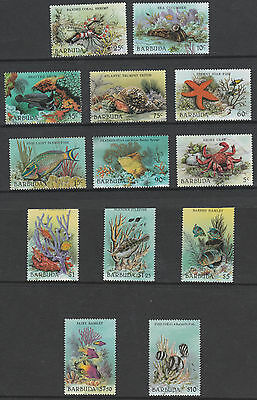 Barbuda 3248 - 1987 MARINE LIFE DEFINITIVE set complete 13 vals  unmounted mint