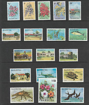 Barbuda 3249 - 1974 PICTORIAL  DEFINITIVE set complete  18 values unmounted mint