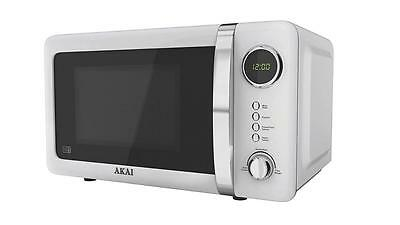 Akai A24005W Pull Handle Digital Microwave 700W 20L White 6 Power Levels New